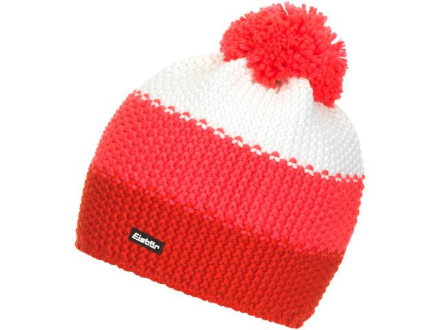 Eisbär Star Bonnet Pompon Femme, fiery red/diva pink/white